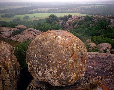 Enchanted Rock State Park, near Austin, TX.