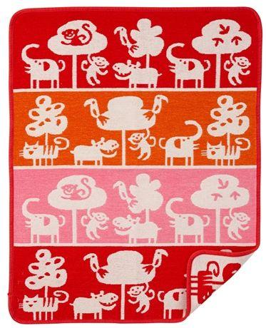 Köp Klippan Filt Safari Röd | Barnrummet Bäddtextilier | Jollyroom