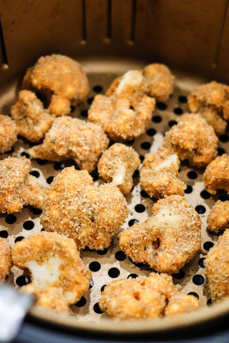 These Crispy Air Fryer Buffalo Cauliflower Bites are the