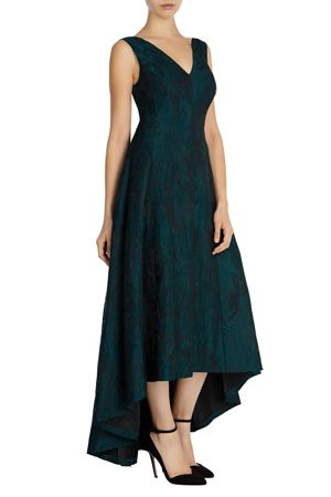 Prom Dresses & Outfits | Greens ARIA JACQUARD HIGH LOW DRESS | Coast Stores Limited