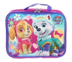 Paw Patrol lunch box for girls in pretty colors.