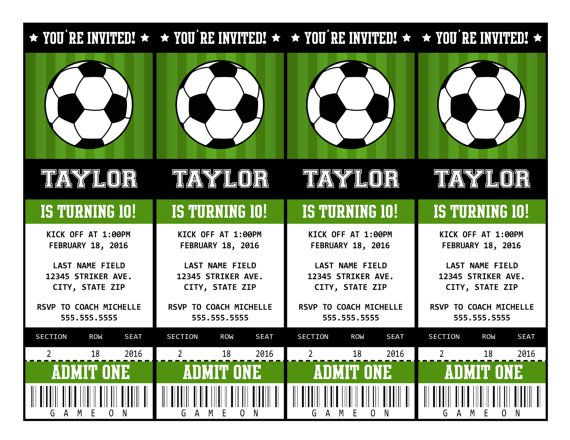 Sample Of Football Invitation Cards Download Best Custom
