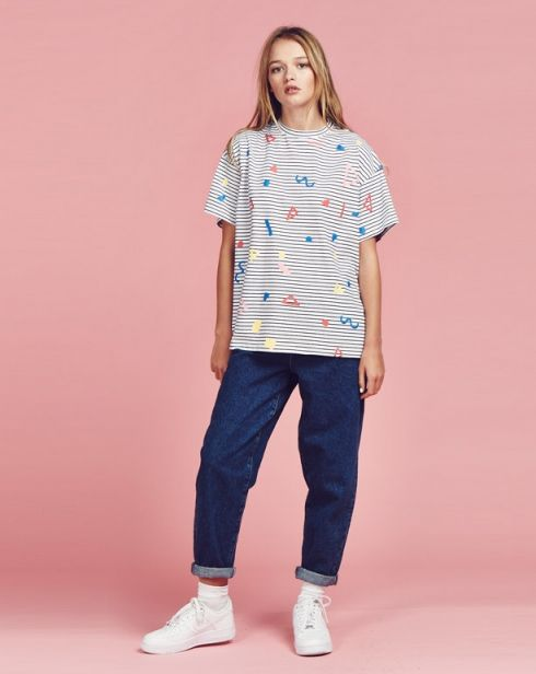 Lazy Oaf Shapes Stripe T-shirt - View all - NEW IN - Womens
