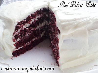 RED VELVET RECETTE GATEAU AMERICAIN, UNE DE MES RECETTES FETICHES - C'est maman qui l'a fait - Gâteaux 3D en pâte à sucre - Cake pops