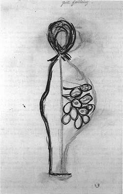 Louise Bourgeois | Girl Falling, 1947