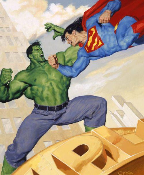 Hulk vs Superman by Glen Orbik