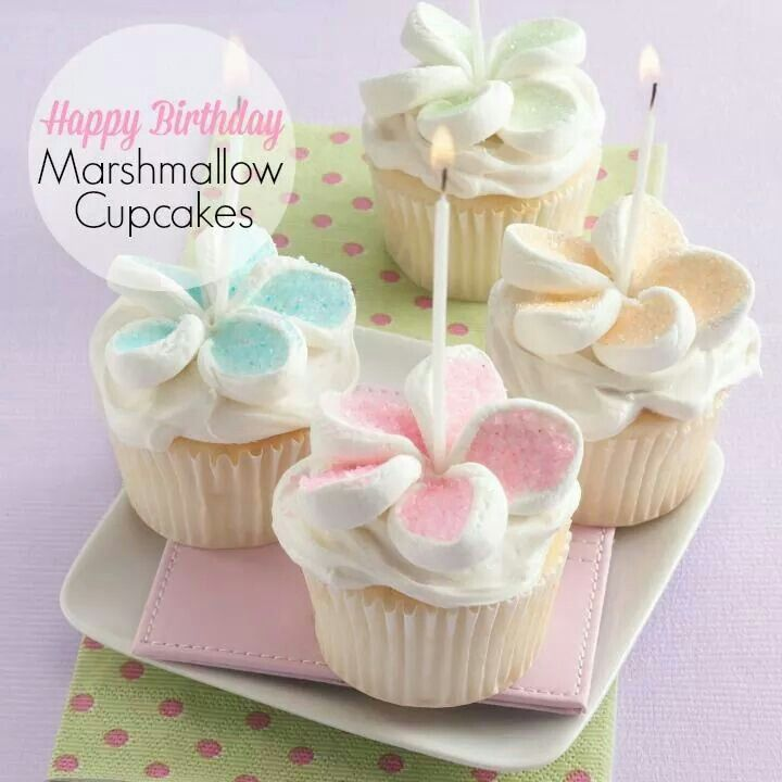Slice marshmallows and add sprinkles for flower petals