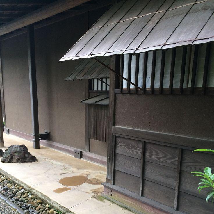 Traditional awnings. Suizenji Koen Kumamoto