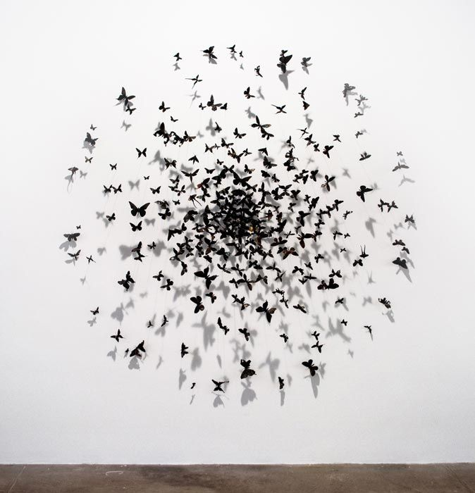 Paul Villinski Heat (Paradigm exhibition), 2014 Aluminum (found cans), wire, soot