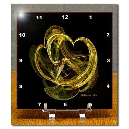 dc_6691_1 SmudgeArt Fractal Art Designs - Heart of gold - Fractal Art - Desk Clocks - 6x6 Desk Clock 3dRose http://www.amazon.com/dp/B0046DIXCE/ref=cm_sw_r_pi_dp_jYQbwb00SDY0N
