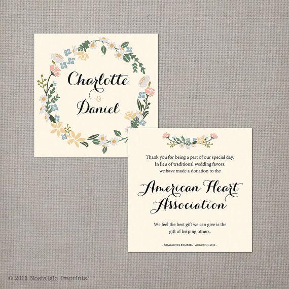 17 Best Ideas About Wedding Favour Donations On Pinterest