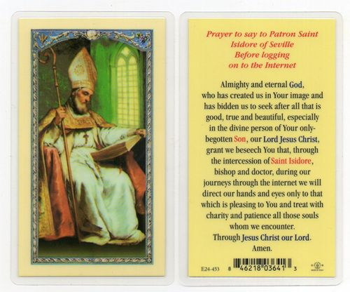 Holy Card, St. Isidore of Seville - St. Jude Shop, Inc.