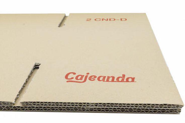 Detalle caja de cartón y/o embalaje, Cartón doble