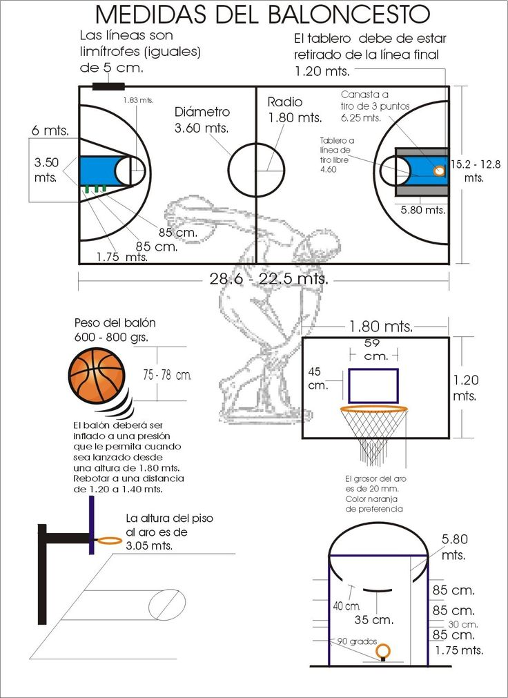 IV, 2 - Medidas del baloncesto