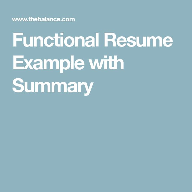 functional summary examples