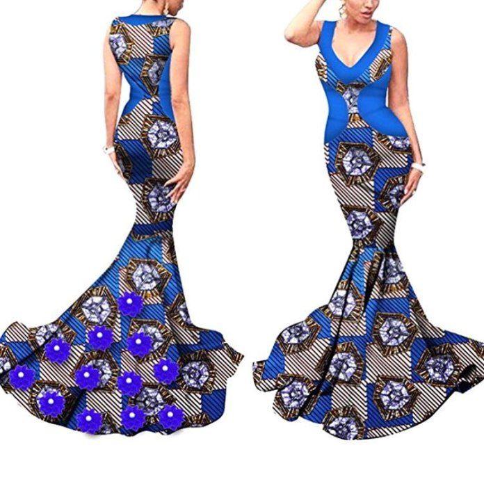 nice african print prom dress