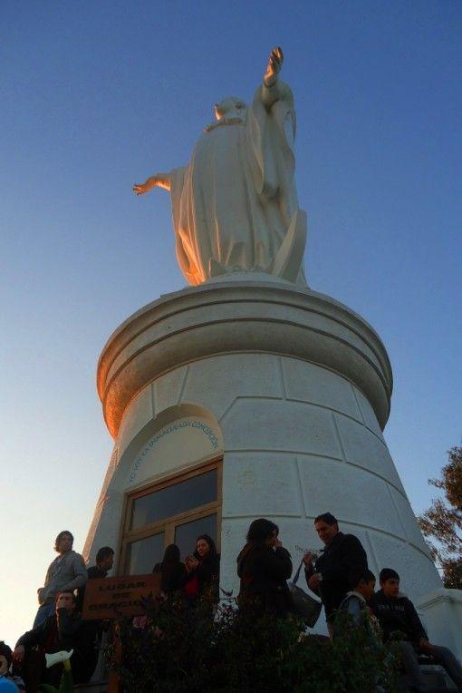 Imaculada Conceição no topo do Cerro San Cristóbal