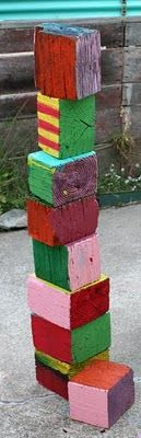 let the kids paint pieces of wood blocks outside, keeps them busy for hours, be sure to use left over paint from the house projects.