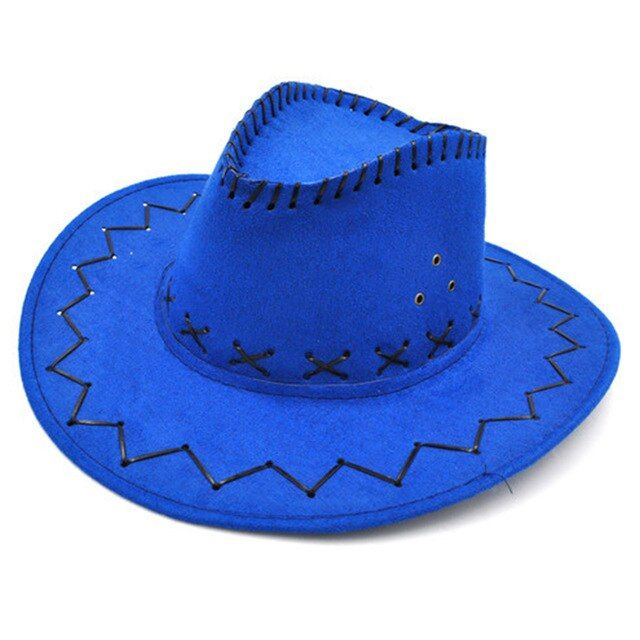 Boy Girls Kids Children Cowboy Cowgirl Wide Brim Sun Hat Fancy Dress Accessory