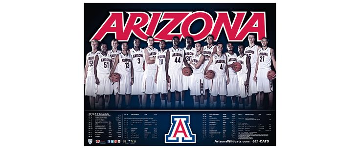 university of arizona basketball | Arizona Men's Basketball Poster & Schedule Card | Old Hat Creative