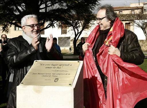 Joan Manuel Serrat, hijo adoptivo de Viana (Navarra) 28-12-2014