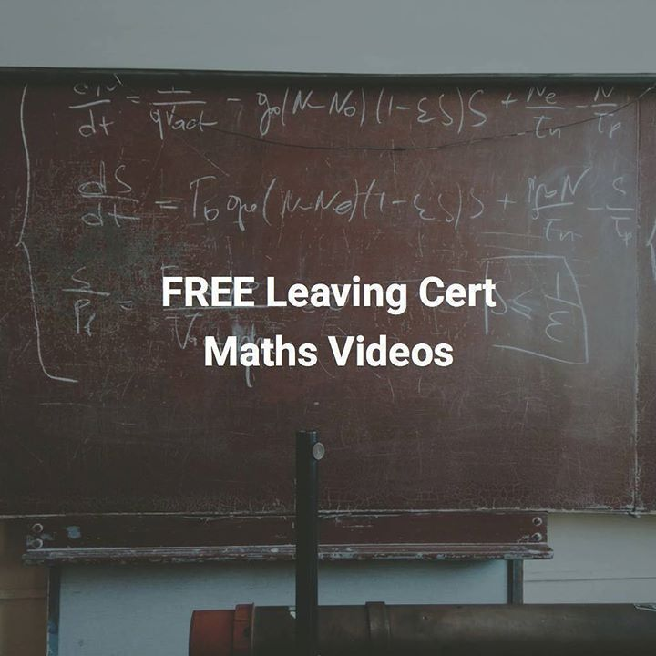 FREE LEAVING CERT MATHS VIDEOS!!!    Struggling with Leaving Cert Maths this year? Don't worry subscribe now to ExamLearn's Youtube channel for access to life-saving Leaving Cert Maths videos going through the chapters in detail.     Not all topics are covered yet but we are working hard on the videos to have a full set covering every single topic in Leaving Cert Maths. SUBSCRIBE now to be notified when we upload more videos as we will have more coming every week!    Start your 2018 in the…