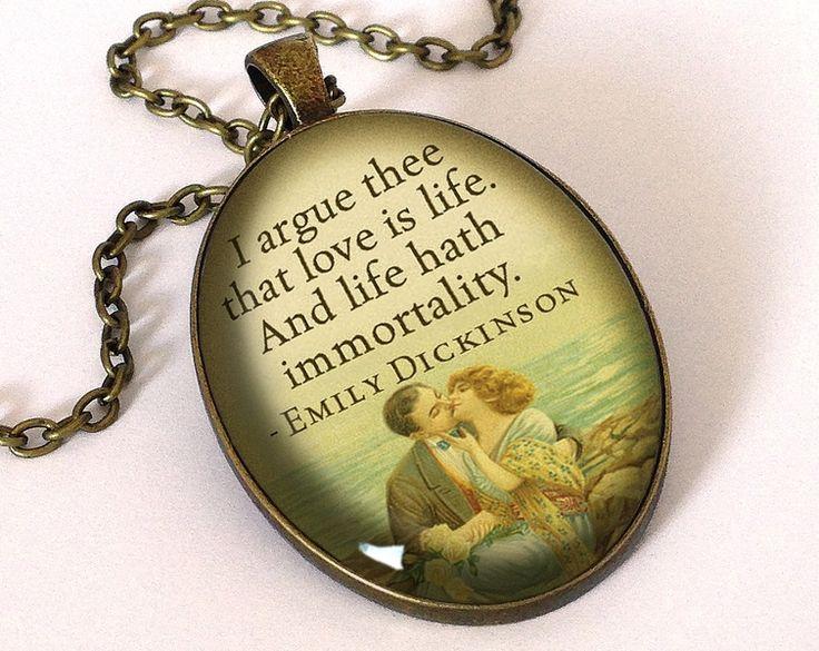 Quote Emily Dickinson, Love Pendant, 0684OPB from EgginEgg by DaWanda.com