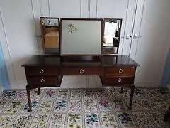 STAG 5 drawer dressing table with triple straight mirrors