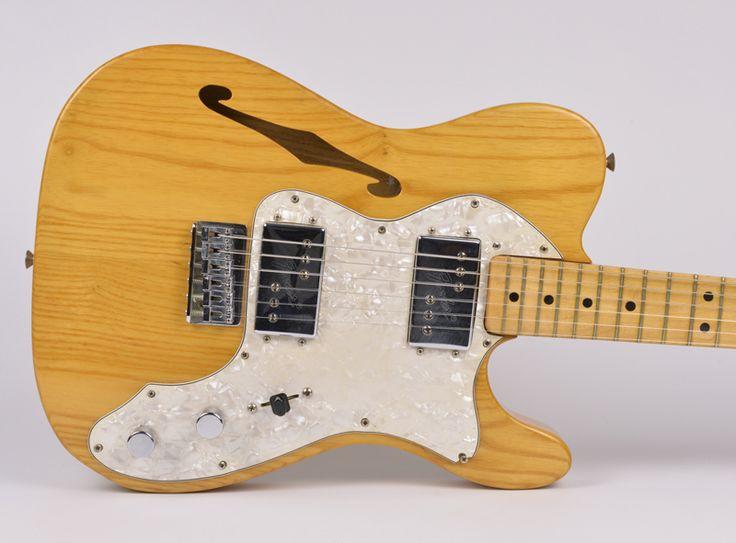 All Original Vintage 1973 Fender Tele Telecaster Thinline Guitar Humbuckers!