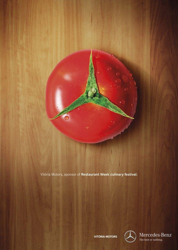 """Vitoria Motors Mercedes Benz Ad: """"Vitória Motors, sponsor of Restaurant Week culinary festival."""""""
