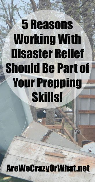 Why disaster relief should be part of your preparedness training. #beselfreliant