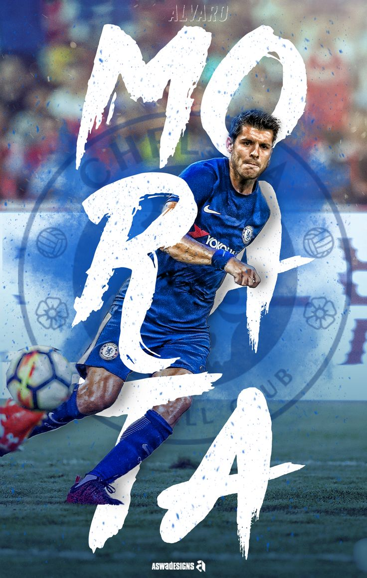 Football - Alvaro Morata Chelsea Fc. #AswaDesigns   https://www.behance.net/gallery/55043669/Football-Alvaro-Morata-Chelsea-Fc-AswaDesigns