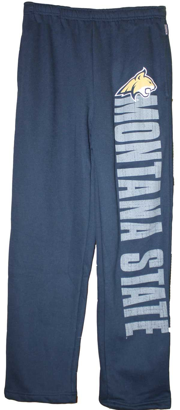 Sweatpants, Navy, Montana State, MSU Cats on Back, Jansport | MSU Bookstore