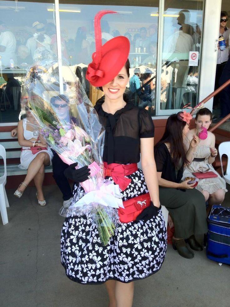 Race day outfit, races dress, races hat, races fascinator, fascinator, women's fashion, derby, ascot, Melbourne cup