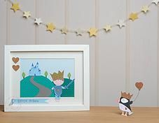 Pink Puffin Crafts | Framed Collection | Prince | £22.50 | www.pinkpuffincrafts.co.uk