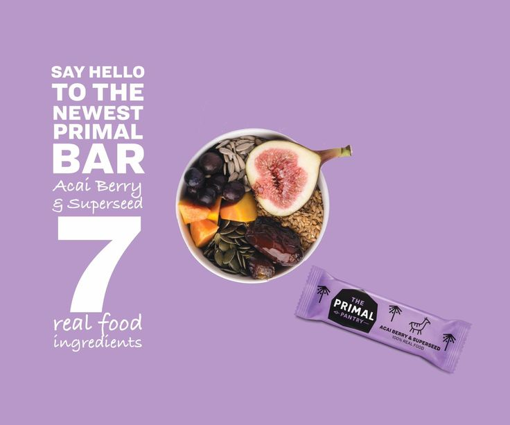 NEW! Acai Berry & Superseed Paleo Bar. Get this tasty snack on our web shop https://paleofood.shop/
