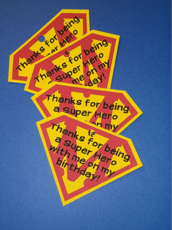 Personalized - You pick the letter! Superman Supergirl Super Hero Birthday Party Favor Tags Super Girl Super Boy on Etsy, $8.25