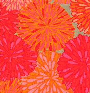 Valori Wells Fabric /  Wrenly /  Bloom in Mandarin /   1 by mimis, $8.50