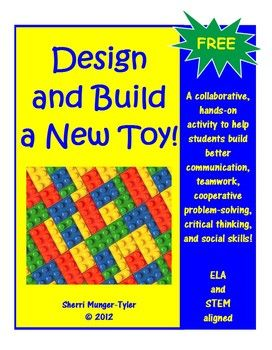 You have been hired to design and build a new toy! Your toy will be marketed across the nation this coming holiday season! This collaborative, hands-on, ELA and STEM-aligned activity fosters team-building, critical thinking, collaborative problem-solving, communication, and social skills. Included Common Core Standards, Teaching Tips, and Learning Objectives. FREE