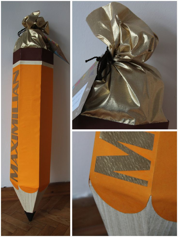 Fertig: Die Bleistift-Schultüte, fertig zur Übergabe von berlinfreckles.de