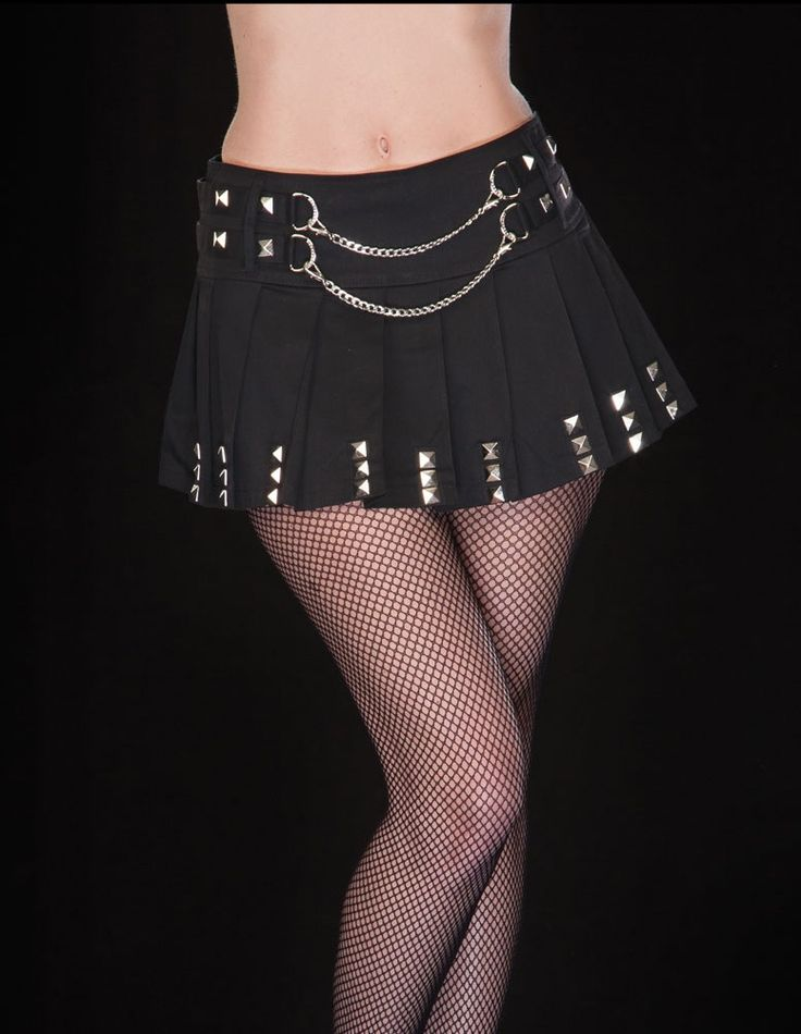 Chain Me Up Pleated Skirt :: VampireFreaks Store :: Gothic Clothing, Cyber-goth, punk, metal, alternative, rave, freak fashions
