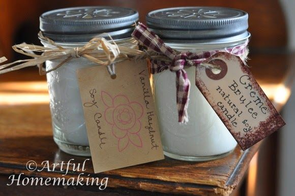 Make Your Own Mason Jar Soy Candles {Tutorial
