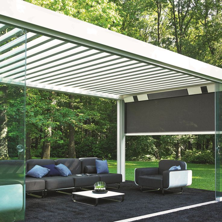 The Renson Camargue louvered canopy is the best way to