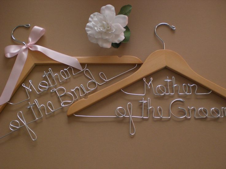 HUGE SALE/Set of 2 Wedding Hangers/Mother of the Bride and Mother of the Groom/Personalized Hangers/Bridal hanger/ Bride / Weddings. $24.00, via Etsy.