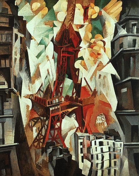 TITLE:Champs De Mars, The Red Tower  ARTIST:Robert Delaunay  OWNER:Art Institute of Chicago  COUNTRY OF ORIGIN:France  DATE OF CREATION:1923 AD