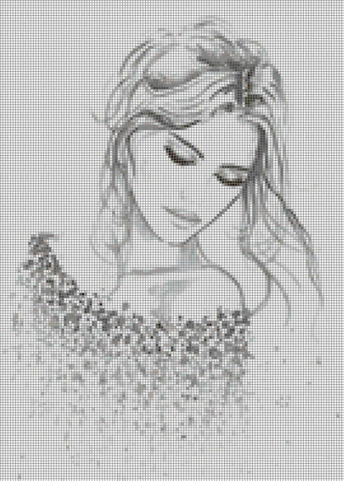 "Borduurpatroon ""Overig"" Kruissteek *Embroidery Cross Stitch Pattern ~Vrouw~"
