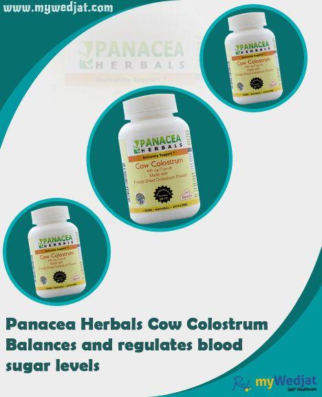 Panacea Herbals Cow Colostrum Balances and regulates blood  sugar levels