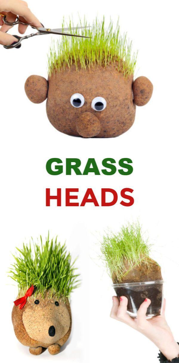 Grass Heads for Kids