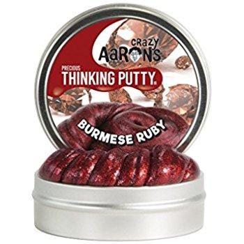 Crazy Aaron's Thinking Putty Simply Brilliant Precious Burmese Ruby 1.6oz