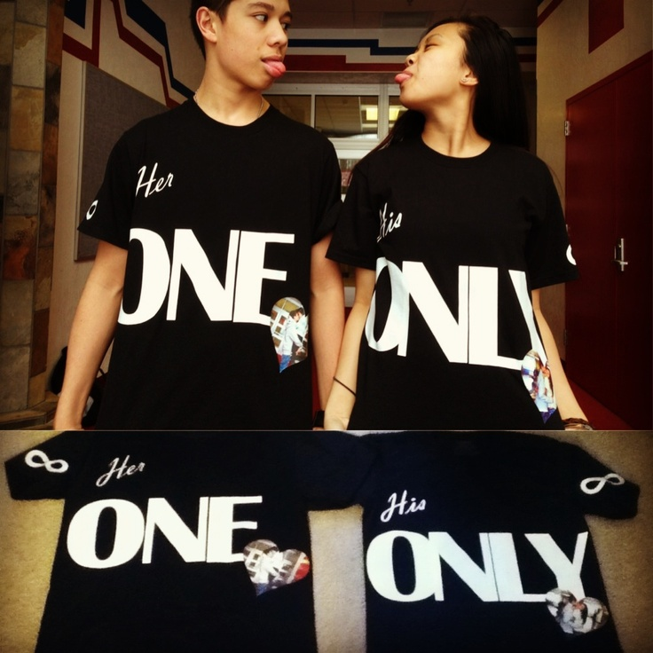 Couple Anniversary Ideas >> DIY Shirts For Couples (2 Year Anniversary) Buy Iron On prints! #DIY | diy | Pinterest | Ideas ...